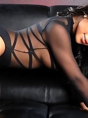Stunning tgirl Nody Nadia stripping and posing