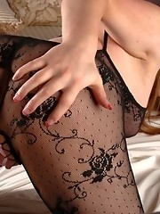 Horny TS Tiffany Starr toying her sweet butthole