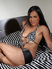 Exotical babe Lucky stripping and posing