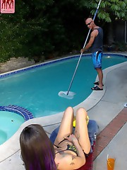 In this hot hardcore scene Adrianna takes a liking to the poolboy who is only too happy to oblige her! Hardcore fucking and blowjobs ensue! Enjoy!