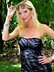 Super hot Renata Davilla posing her huge cock and tits