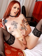 Hot shemale with tattoos and piercings!