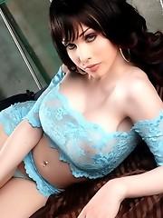 Seductive Sarina Valentina stripping and posing