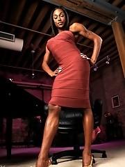 Sweet ebony shemale Natalia Coxxx exposed